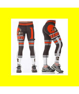 BROWNS Leggings - #12 Women Fan Gear - High Quality - NFL Cleveland Brow... - $34.99