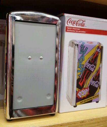 Primary image for Metal Coca-Cola Napkin Dispenser Coke Store New Holiday Birthday Christmas Gift