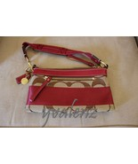 COACH Signature Demi Handbag, Khaki/Crimson (deep red) #10120 - $50.00