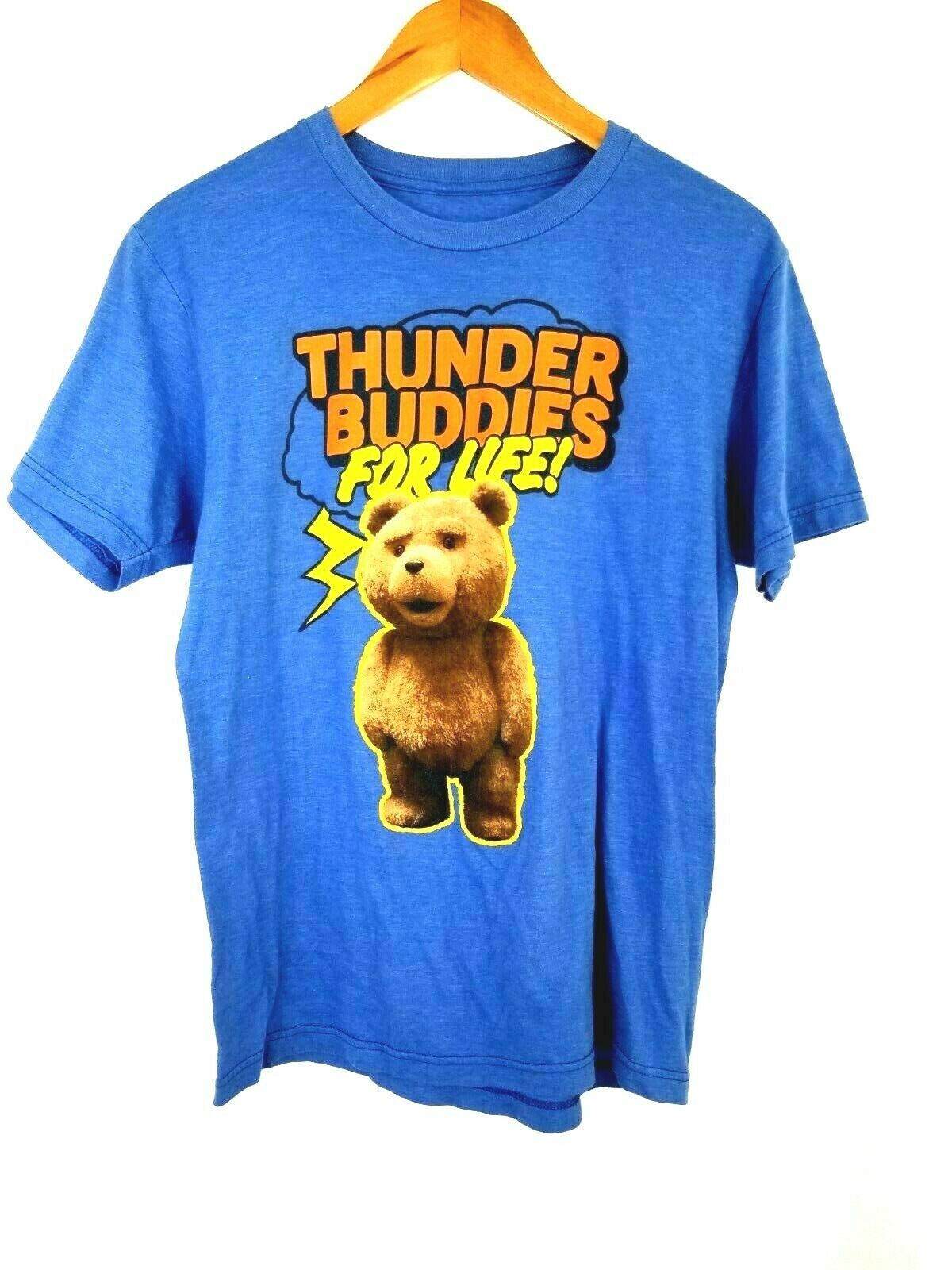 Ted The Movie Shirt Thunder Buddies For Life Mens Medium T Shirt Ripple Junction