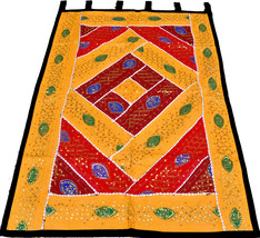 """Ethnic 59"""" x 40"""" Wall Hanging Embroidered Tapestry Runner INDIAN Home De... - £45.43 GBP"""