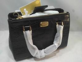 NWT Michael Kors Small Kellen Black Embossed Leather Satchel +25%off next order - $200.36