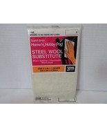 SCOTCH BRITE HOME 'N HOBBY PAID STEEL WOOL FINE GRADE 6X9 MODEL SUPPLIES... - $4.85