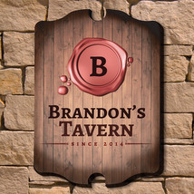 Wax Seal Personalized  Bar Sign - $49.95