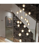 Modern Crystal Chandelier for Staircase Lighting Long Luxury Led Crystal... - $599.99+