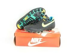 NOS Vtg 80s Nike Firestar Soccer Cleats Shoes Black Leather Mens 6 Womens 7.5 - $39.55