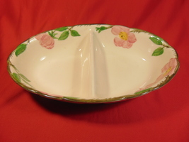 """10"""" Oval Divided Bowl, from Franciscan, in the Desert Rose Pattern, USA - $22.99"""