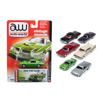 Autoworld Muscle Cars Release 5B Premium Licensed Set Of 6 Cars 1/64 Die... - $57.86