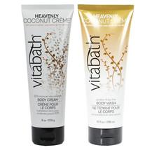 Vitabath Heavenly Coconut Creme Body Wash and Body cream  DUO Gift SET - $26.99