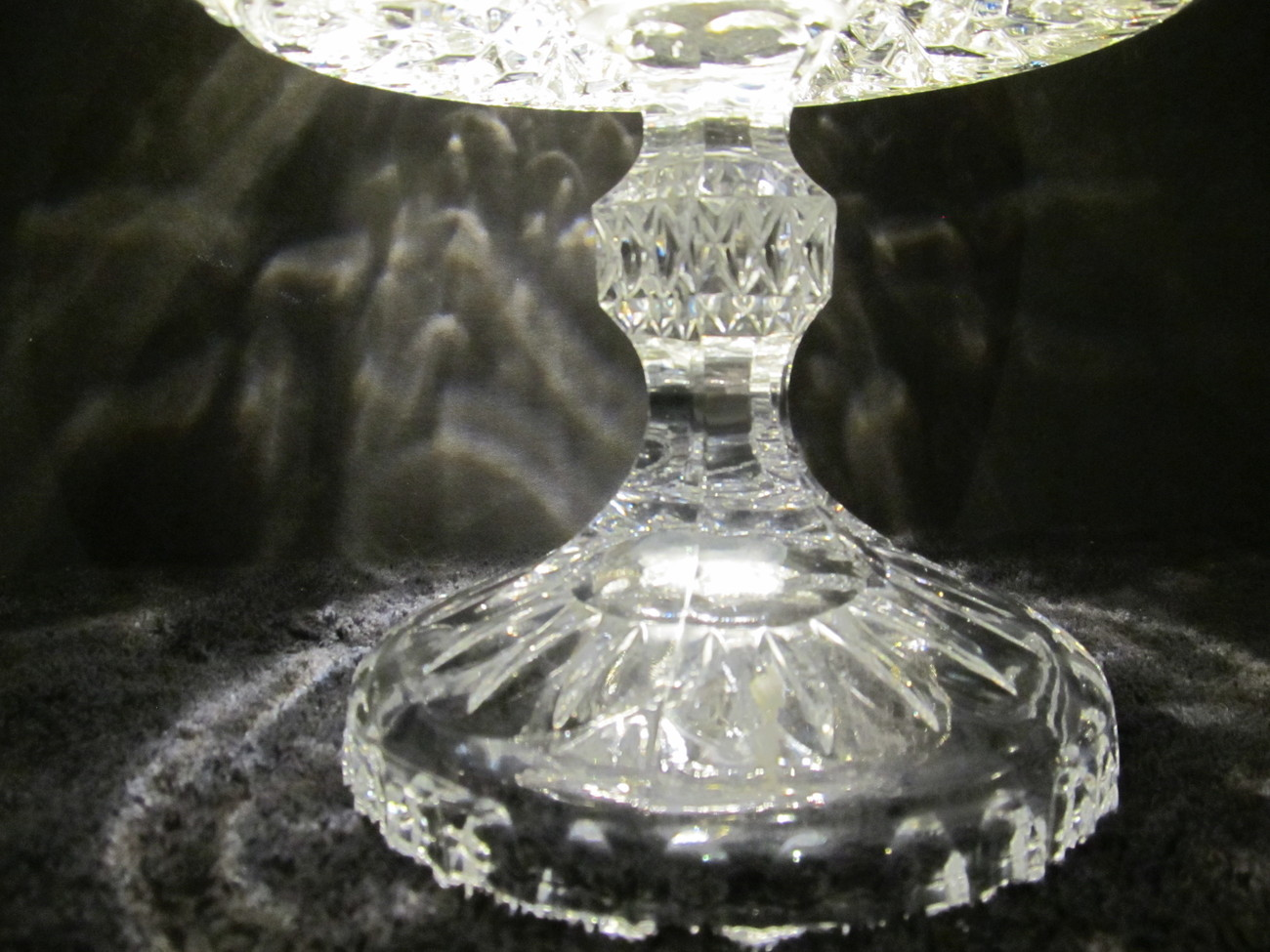 West germany large lead crystal glass centerpiece bowl on