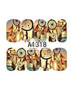 Water Transfer Watermark Art Nails Decal Sticker Manicure Dream catcher ... - $1.83