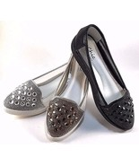 Chic By Lady Couture Sky Silver Embellished Dress Comfort Loafers  - $47.20