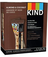 KIND Bar Almond & Coconut Gluten Free 40 Grams 12 Count FRESH & DELICIOUS - $16.68