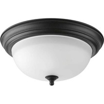 "Progress Lighting P3925 Black Melon 2-Light 13.25""W Flush Mount Ceiling ... - $22.76"