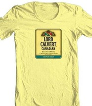 Lord Calvert T-shirt Canadian Whisky beer yellow white 100% cotton graphic tee image 1