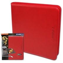 Case (6) BCW Z-FOLIO 9-POCKET LX ALBUM - RED - $104.49