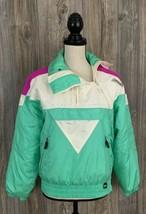 "Vintage 80's Spyder ""Entrant"" Ski Jacket Women's 6~Off Center Zipper~100... - $39.58"