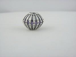 Pandora ALE Purple CZ Flower Charm in Sterling Silver - $40.91