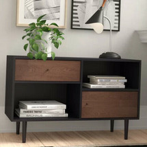 Modern Storage Sideboard Cabinet Buffet Living Room Side Table Black and... - $118.79