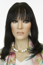 Black Brunette Medium Premium Remy Human Hair Monofilament Straight Wigs - $288.30