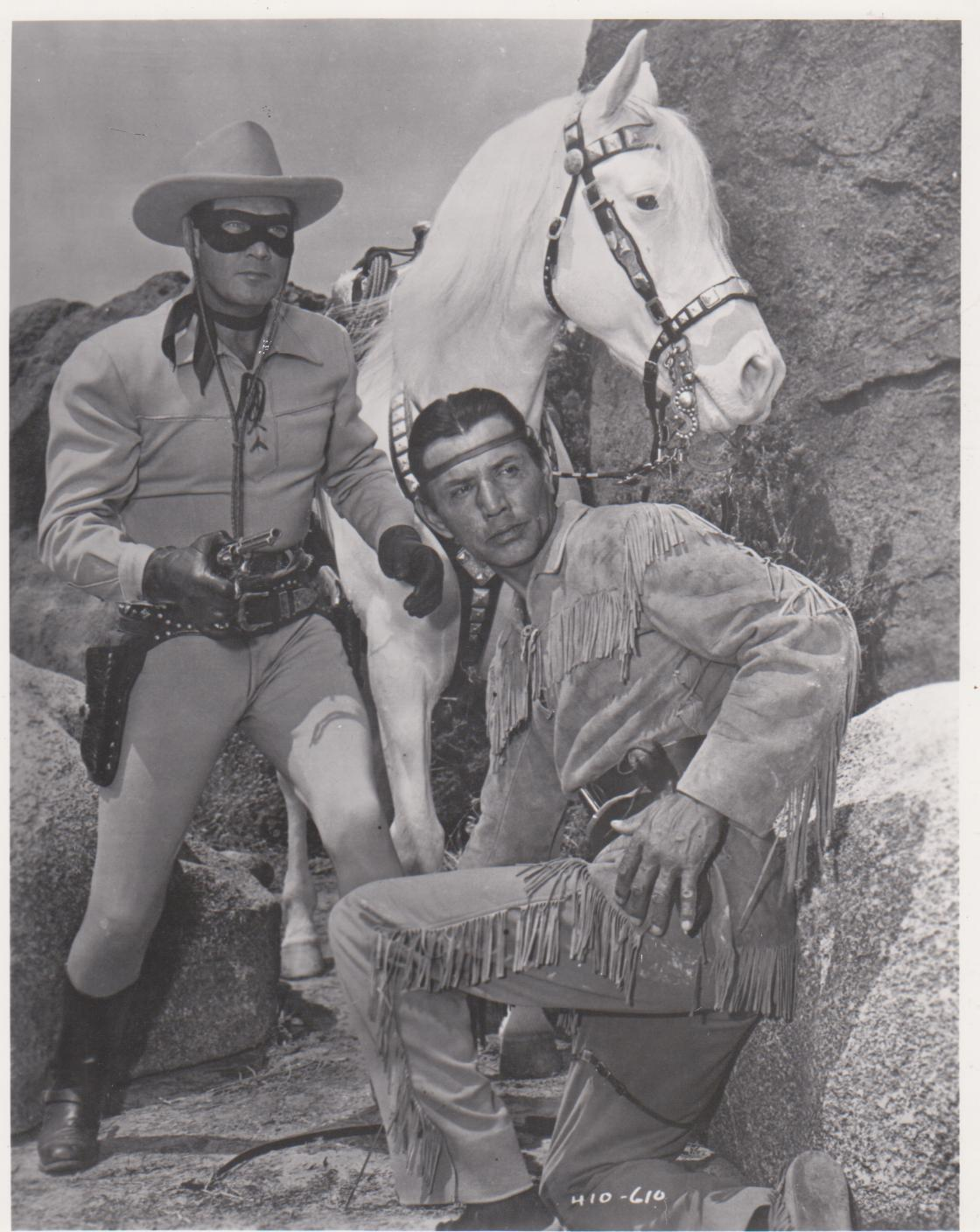 Primary image for Lone Ranger Clayton Moore QP Vintage 16X20 Matted BW TV Memorabilia Photo