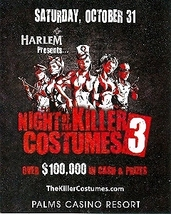 Night of the Killer Costumes 3 Palms Casino Las Vegas 4 x 5 Promo Card - $1.95