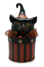 Halloween Black Cat Trinet Box Handmade  - £30.22 GBP