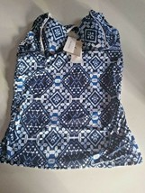 Tommy Bahama Mare Navy Under Wire Tummy Comtrol Swimwear Top Size Small image 1