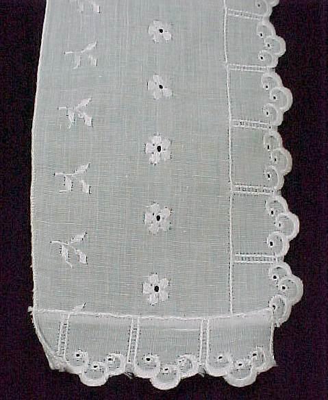 Girl Ladies Womans White Eyelet Collar Cotton Polyester