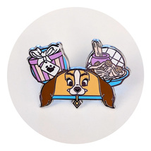 Lady and the Tramp Disney Lapel Pin: Lady Eat Hat - $16.90