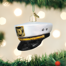 OLD WORLD CHRISTMAS CAPTAIN'S CAP HAT SKIPPER NAUTICAL CHRISTMAS ORNAMEN... - $10.88