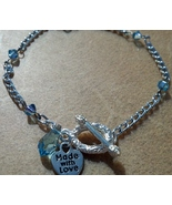 Aquamarine Swarovski Crystal Bracelet Hand Made In USA - $19.00