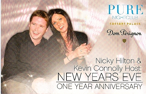 Nicky Hilton & Kevin Connolly at Pure Nightclub Las  Vegas Promo Card