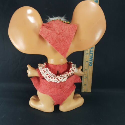 Big Ears Christmas Mouse Bank Doll Royalty Industries 1970 Vintage Roy Des