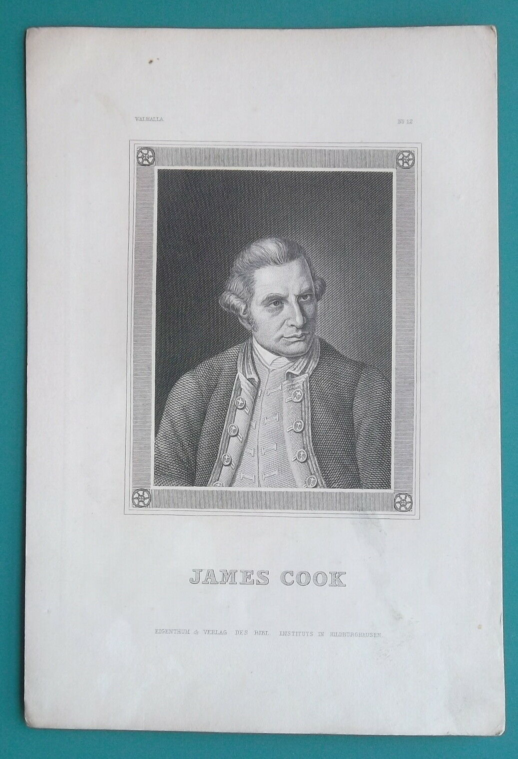 Primary image for JAMES COOK Explorer Navigator Geographer - 1840s Portrait Print