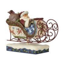 "Jim Shore Victorian Santa in Sleigh 11"" Long Christmas Collectible #6009493 image 3"