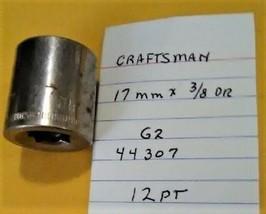 """Craftsman  17 mm x 3/8"""" Dr Socket  12 Point  G2 44307 - $13.09 CAD"""