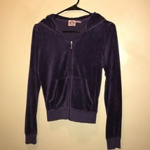 Juicy Couture Women's Graphic Purple Zipper Front Hoodie. Size Medium - $23.15