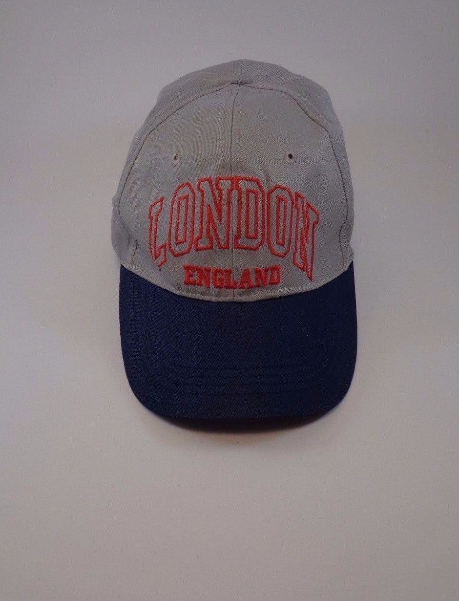 LONDON ENGLAND Gray Cap Hat One Size Great Britain Pond English Royal Queen King