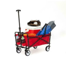 Seina Compact Folding Outdoor Utility Cart - Red - $95.99