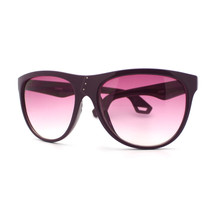 Womens Oversize Sunglasses Overlap Button Design Fashion Frame PURPLE - $6.88