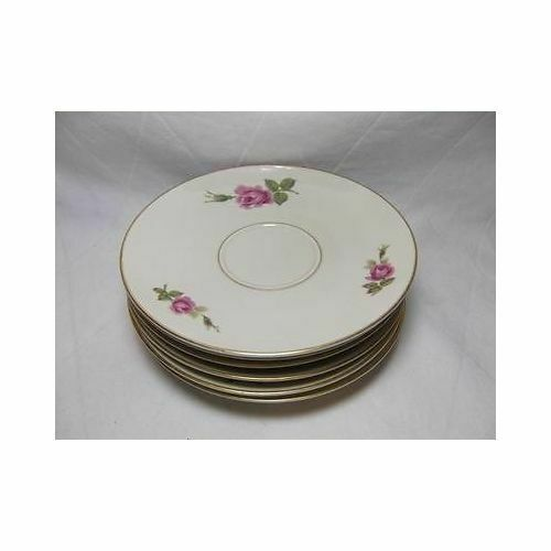 Primary image for Rosenthal Set of 8 AIDA ROSE TEA SAUCERS plate Germany 2825 dinnerware