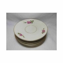 Rosenthal Set of 8 AIDA ROSE TEA SAUCERS plate Germany 2825 dinnerware - $28.21