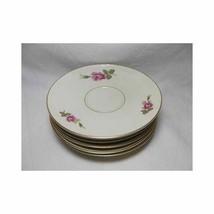 Rosenthal Set of 8 AIDA ROSE TEA SAUCERS plate Germany 2825 dinnerware - $28.21