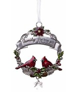 Attractive Zinc Christmas Cardinal Ornaments - Family - $7.43