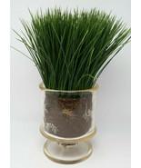 """Artificial Wheat Grass Arrangement in Clear Pot 16"""" High - $8.59"""