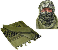Olive Drab Shemagh Tactical Desert Keffiyeh Arab Heavyweight Scarf - $13.99