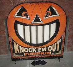 Bethany Lowe Knock Em Out Pumpkin Bean Bag Game or fire screen - £69.91 GBP