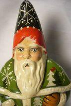 Vaillancourt Folk Art Santa & Pinecones Collector's Wkd signed by Judi! image 3