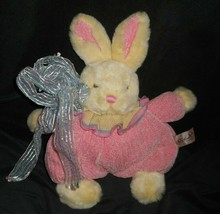 RICH BABY BUNNY RABBIT PINK KNITTED OUTFIT W BOW STUFFED ANIMAL PLUSH TO... - $28.05